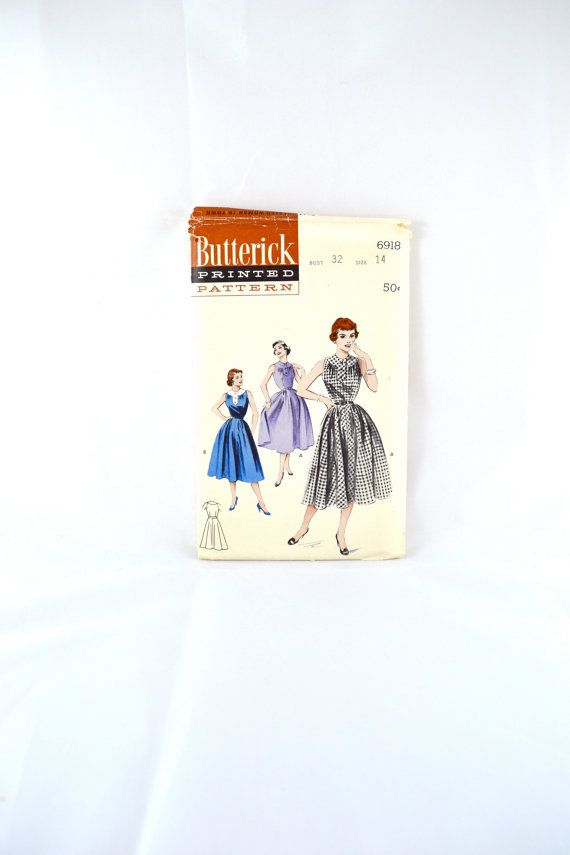 1950s Vintage Butterick Pattern 6918 Misses by TabbysVintageShop, $18.00