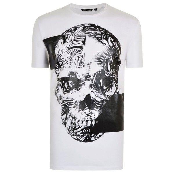 800aca56 Antony Morato Skull T Shirt ($30) ❤ liked on Polyvore featuring tops, t