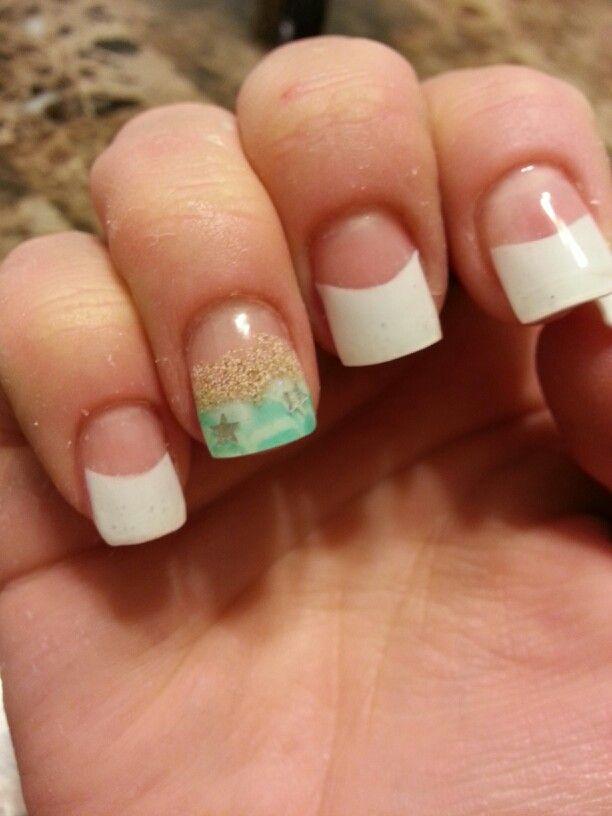 My Beach Themed Gel Nail Design