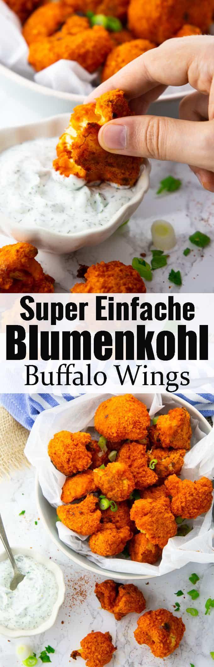 Gebackener Blumenkohl #fingerfoodrezepteschnelleinfach