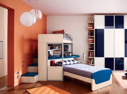 Lit combin contemporain pour enfant mixte 131 c for Industria mobili