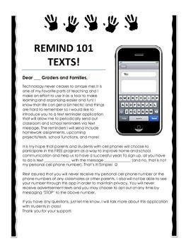 Remind 101 Parent Information Letter Letter to parents