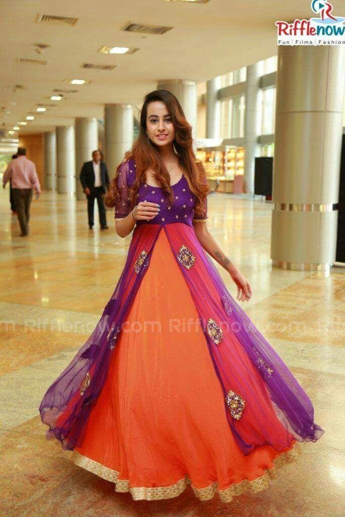 b57a28196a94 Love the colour combo Anarkali Dress