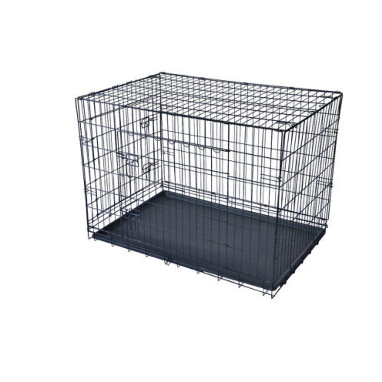 42 2 Cat Crate Doors 42 Pet Dog Folding Suitcase W Divider Cage