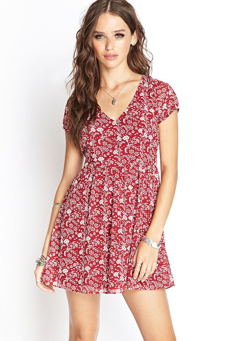 Crepe Woven Floral Dress | FOREVER21 #SummerForever | dresses ...