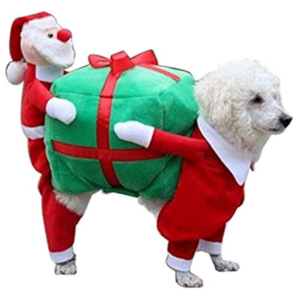 Luxury Dog Clothes Christmas Costumes Funny Santa Claus Pet