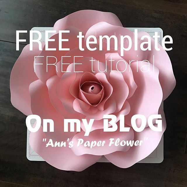 Free Paper Rose Template | Downloadable Free Template And Free Instructions For Ann S Paper