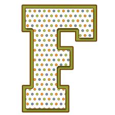 Resultado de imagen de letra f lunares en pinterest