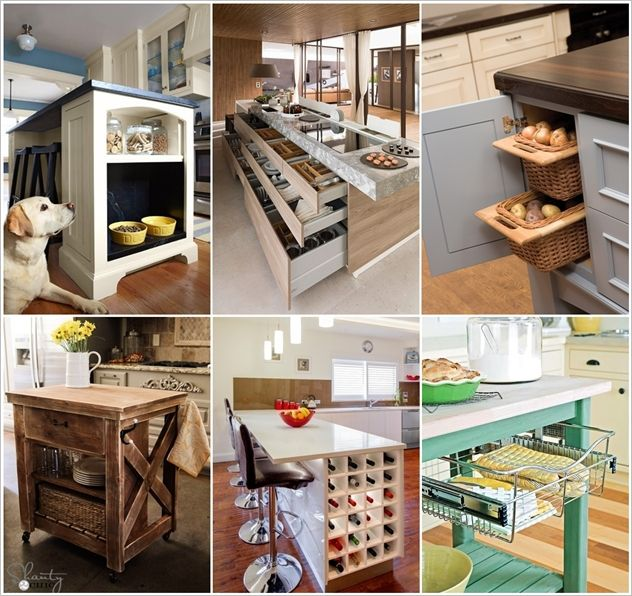 15 Clever Kitchen Island Hacks to Make it More Functional ...