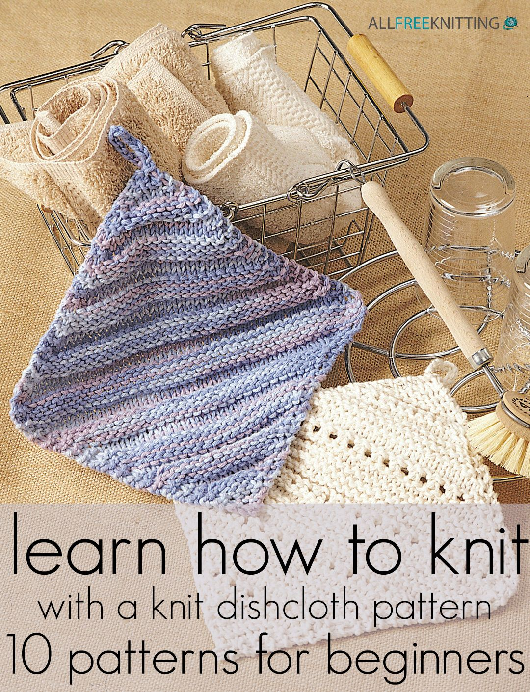 12 Knit Dishcloth Patterns for Beginners | Pinterest | Knitted ...