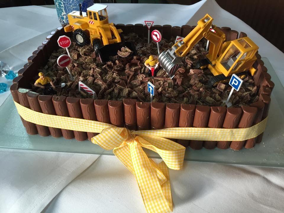 baustellen torte geburtstag oski in 2019 kuchen kindergeburtstag geburtstagskuchen