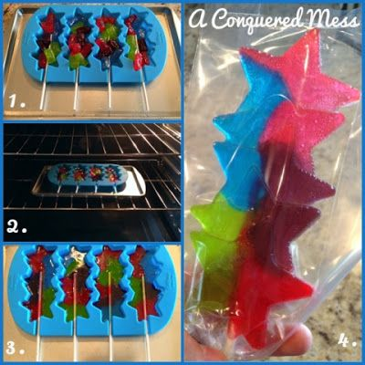 A Conquered Mess: DIY Jolly Rancher Lollipops. This would be a Lollipop even I could make. What a fun idea to do with the kids.