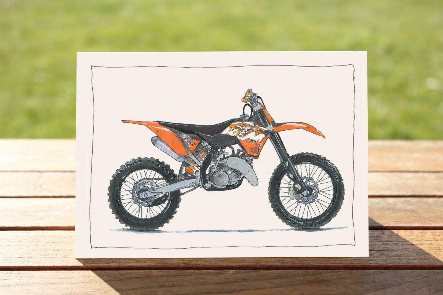 Motorcycle Card Ktm Enduro Dirt Bike A6sometimes Saying Nothing Says It All All Cards 5 50 Aud Postage With Images Motorcycle Art Motorcycle Drawing Art