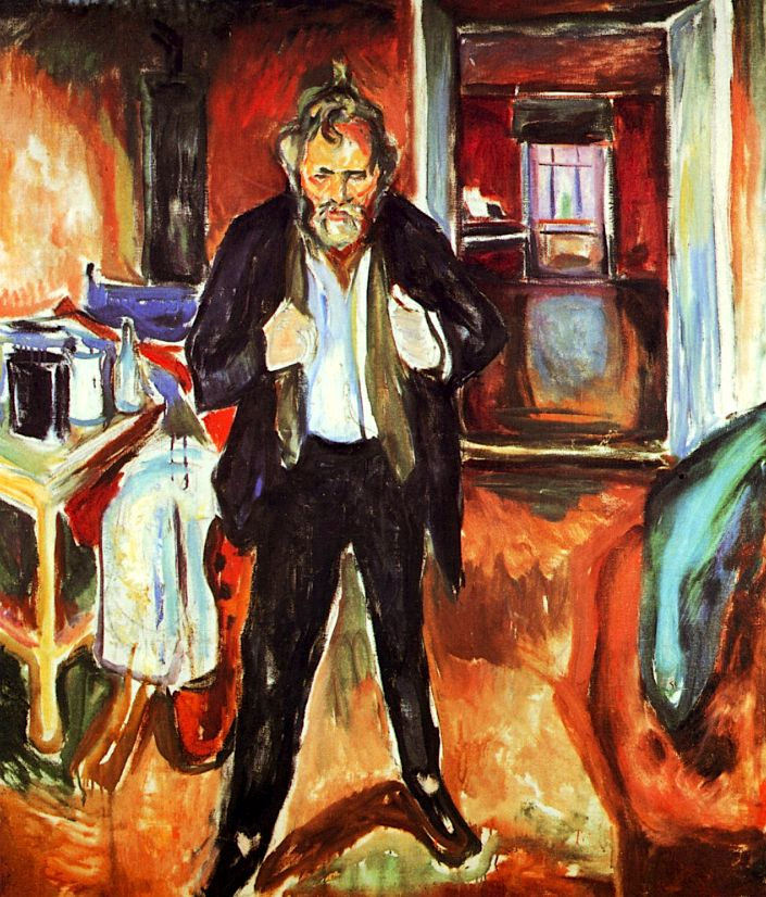 Sleepless Night. Self-Portrait in Inner Turmoil Edvard Munch - 1920