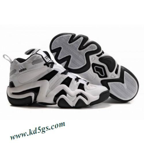 6c89ce99da9 Adidas Crazy 8 Kobe Bryant Shoes White Black Shoes