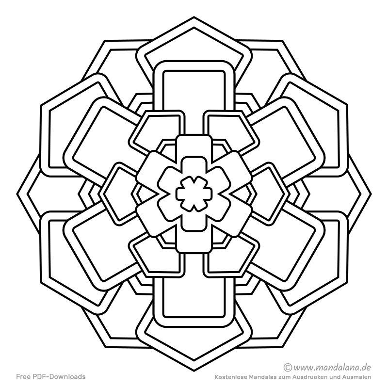 Mandala Malvorlagen Einfache Formen Zum Ausmalen Mandala Malvorlagen Malvorlagen Vorlagen