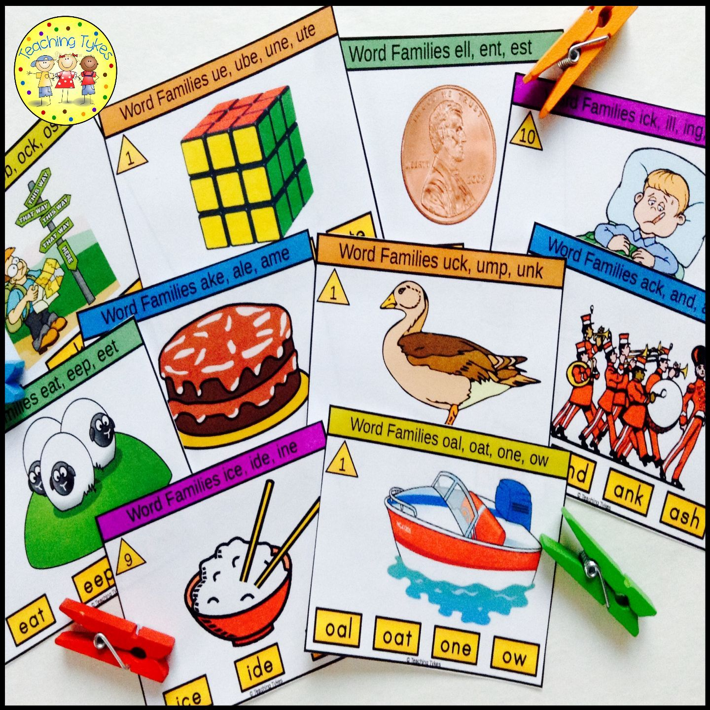 Word Families Task Cards From Teaching Tykes
