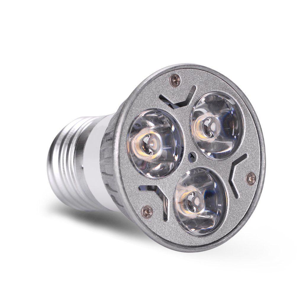 Ac Dc 12v 12 Volt 3w 1w X 3 Led Spot Light Bulb E26 E27 Par16 Screw Socket Lamp Led Spotlight Led Light Bulb Light Bulb