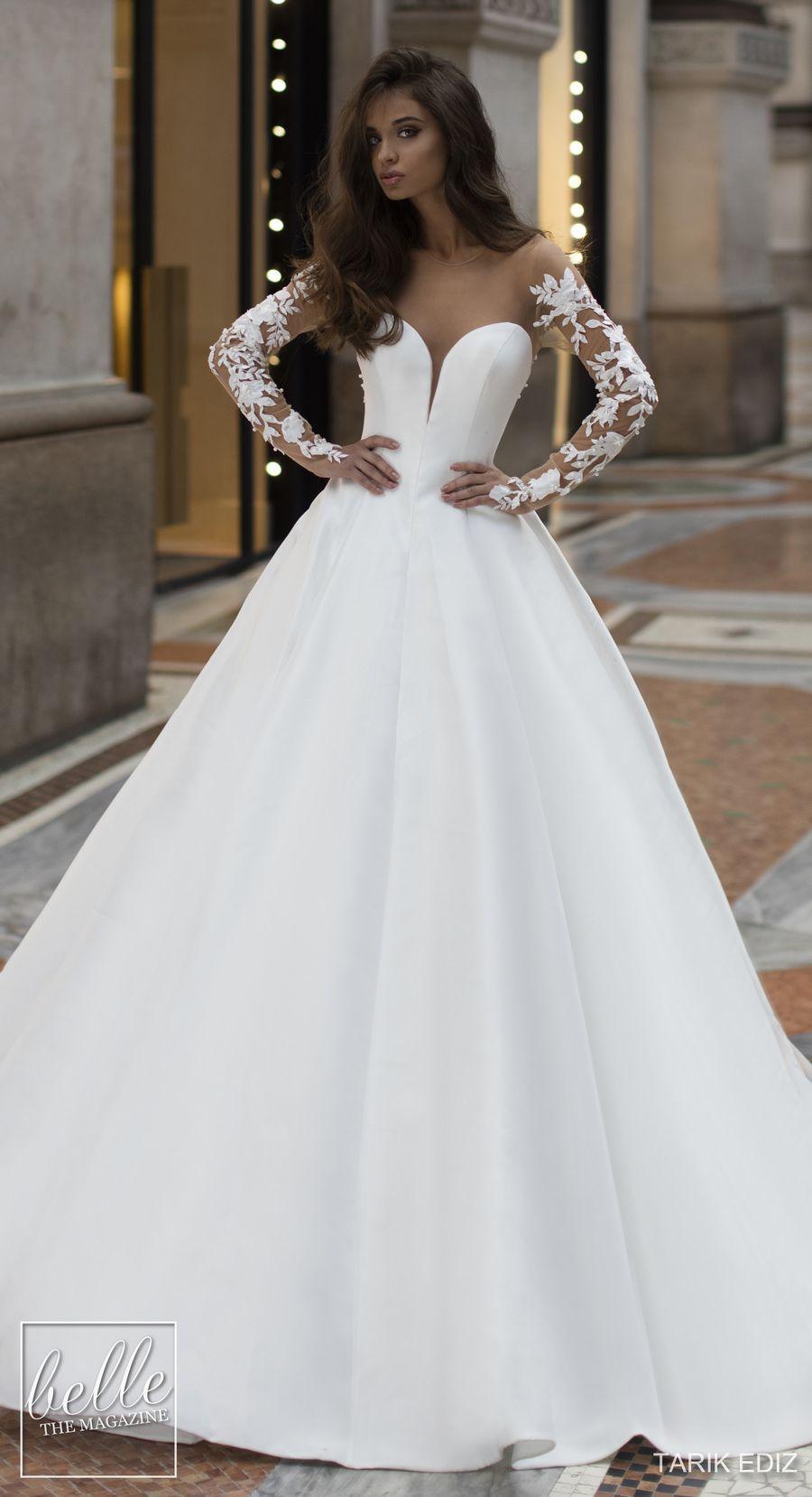 Tarik Ediz Wedding Dresses 2019 Belle The Magazine Wedding Dress Long Sleeve Wedding Dresses Ball Gown Wedding Dress [ 1658 x 900 Pixel ]