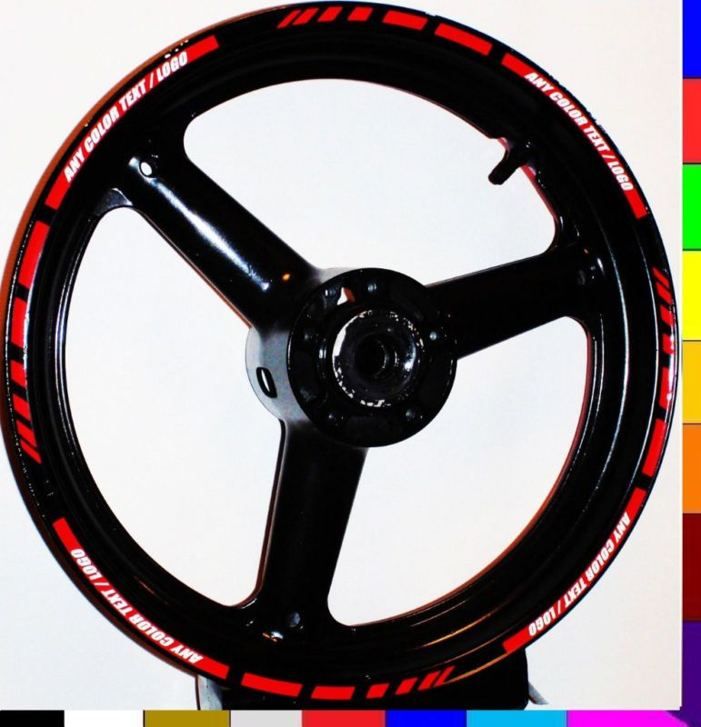 Custom Rim Stripe Wheel Decal Tape Sticker Kawasaki Ninja