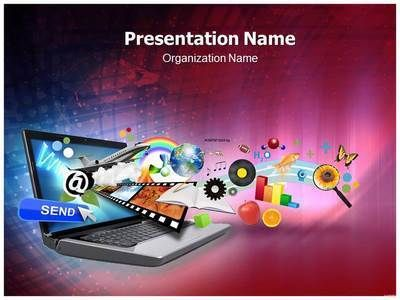 Download our state-of-the-art laptop #PPT #template Make a laptop - professional power point template