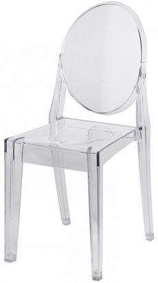 Polycarbonate Stackable Clear Armless Kage Chair Victoria Ghost