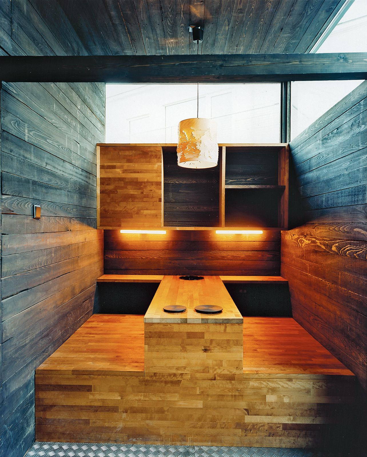 Captivating The Kitchen Table, Built Into The Structure Of The House, Includes Two Hot  Plates Good Ideas