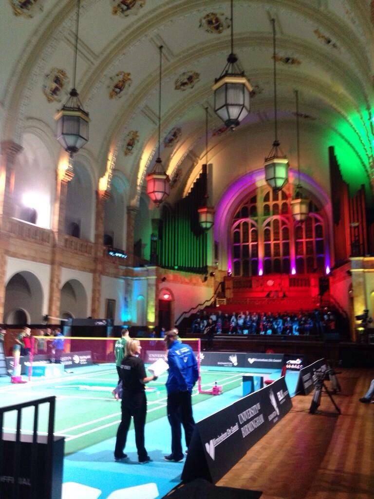 Great Hall At University Of Birmingham Looking Ready To Host Live Nbl Badminton On Sky Sports Iconic Home University Of Birmingham Badminton Badminton League