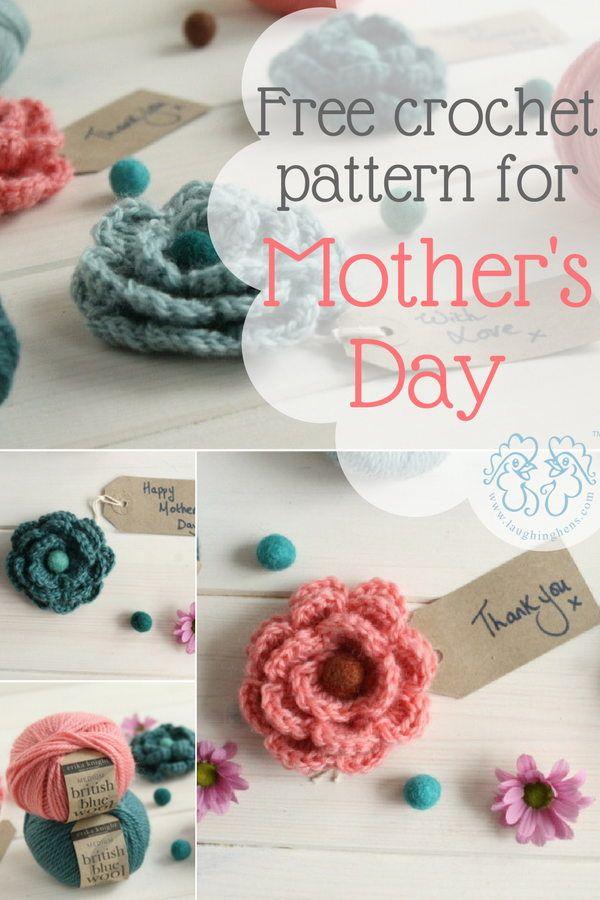 A free crochet pattern for Mother\'s Day   puntadas en crochet ...