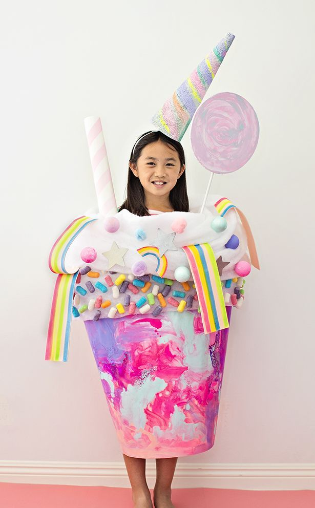 9eae6d509 DIY UNICORN CANDY MILKSHAKE COSTUME