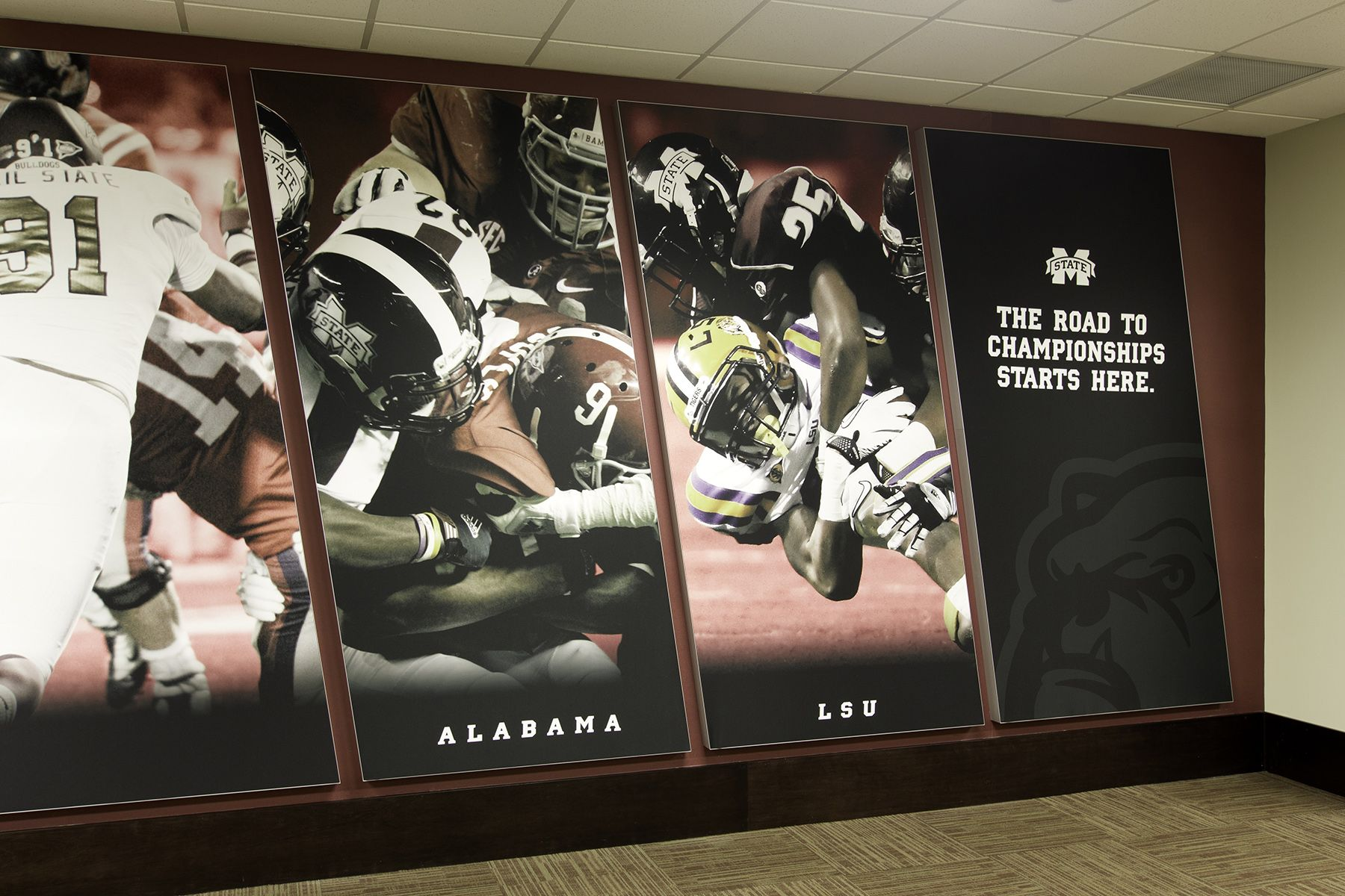Mississippi State University Leo Seal Jr Football Complex Advent Nashville Tn Mississippi State University History Wall Office Design Concepts
