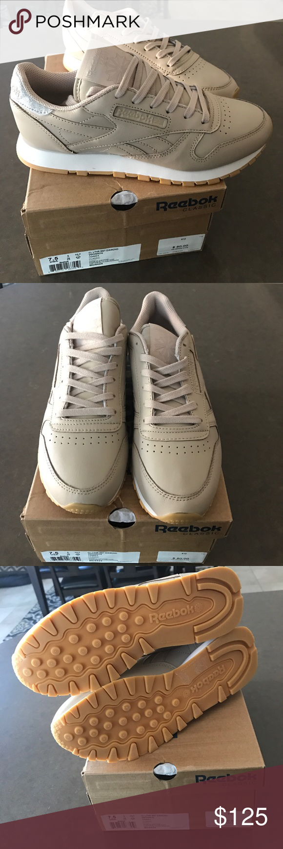 f46aace9d5cc07 Reebok Classic Leather Met Diamond Brand new