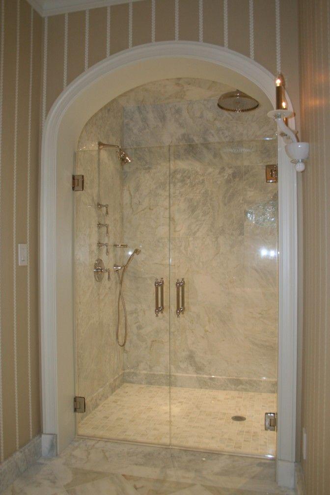 Double swing over tub shower door | Shower Stalls & Enclosure ...