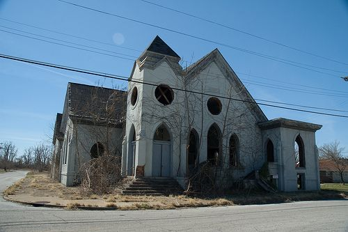 Old Abandoned Church in Cairo Illinois