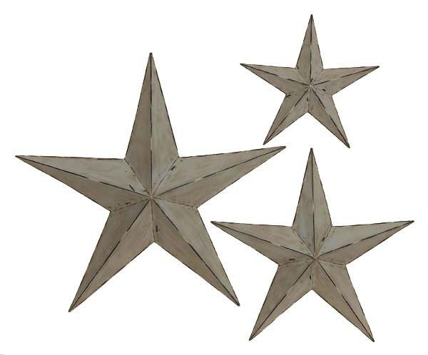 This Rustic Looking Grey Star Wall Decor Set Is Handcrafted There