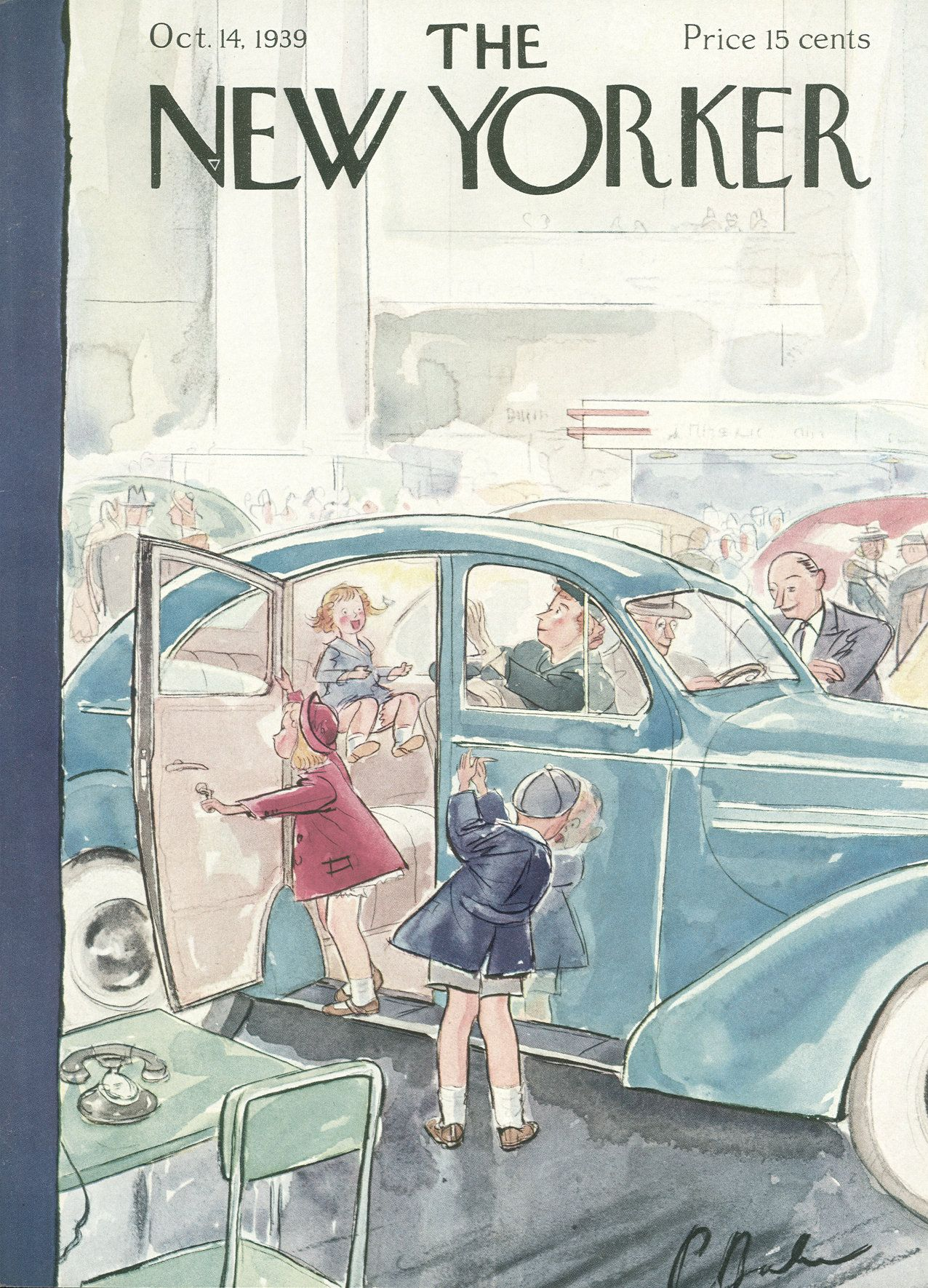 The New Yorker - Saturday, October 14, 1939 - Issue # 765 - Vol. 15 - N° 35 - Cover by : Perry Barlow