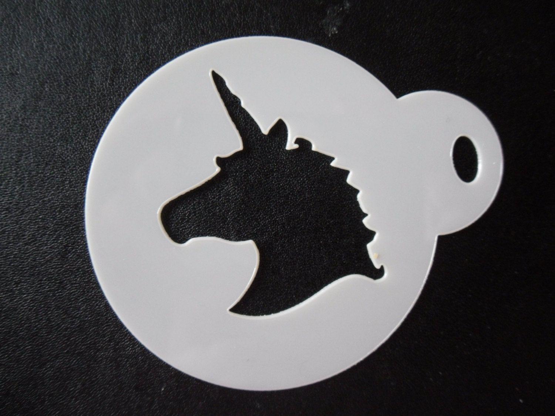 Unique bespoke new laser cut unicorn head cookie / face painting ...