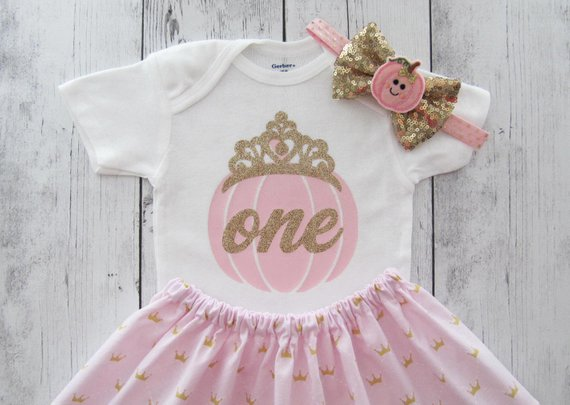Gold One bodysuit first birthday outfit Pink And Gold bodysuit,