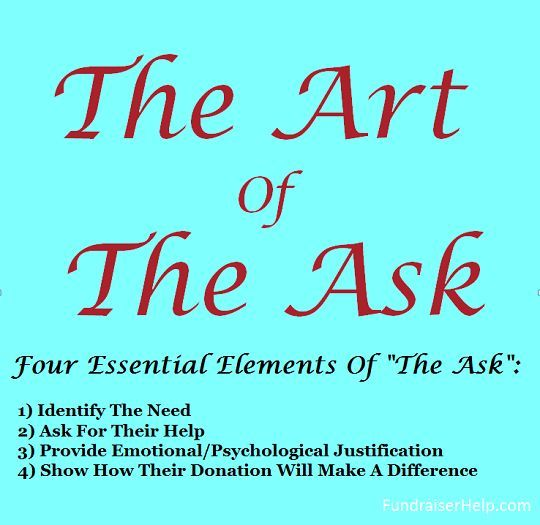 The Art Of The Ask  Fundraising Fundraising Ideas And Grant Writing