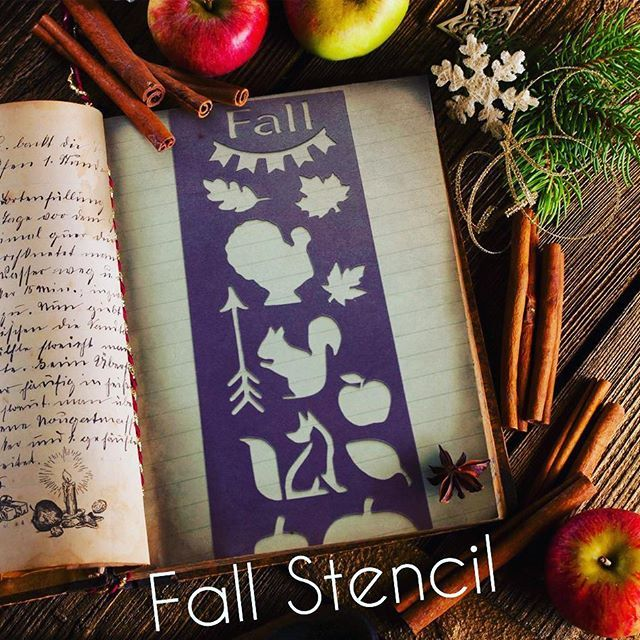 Fall stencil check it out on Etsy. Link to shop in profile.  #plannerobsessed #plannercommunity #planneraddict #planning #plannerlove #planner #erincondrenlifeplanner #eclp #ecvertical #kikkik #kikkikplanner #filofax #filofaxlove #filofaxaddict #happyplanner #planmyday #plannernerd #stencil #biblejournaling #journal #filofaxing #filofaxpersonal #plannergoodies #plannergirl