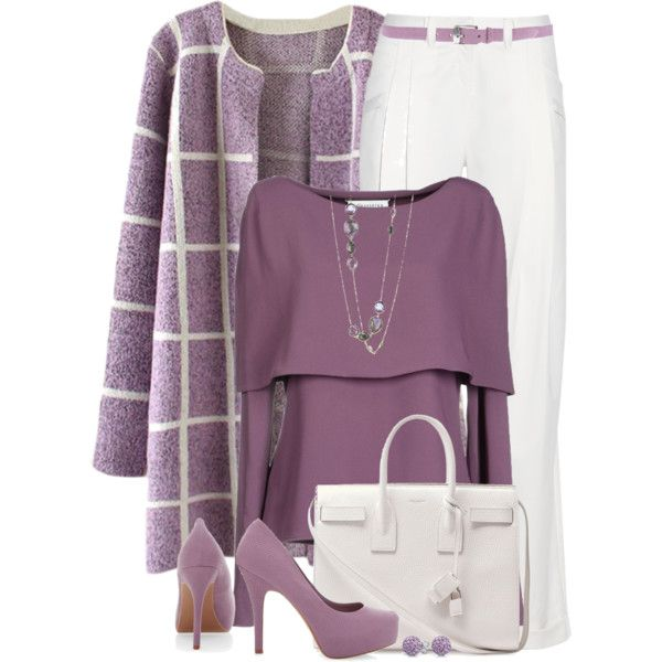 """""""Purple For the Office"""" by brendariley-1 on Polyvore"""