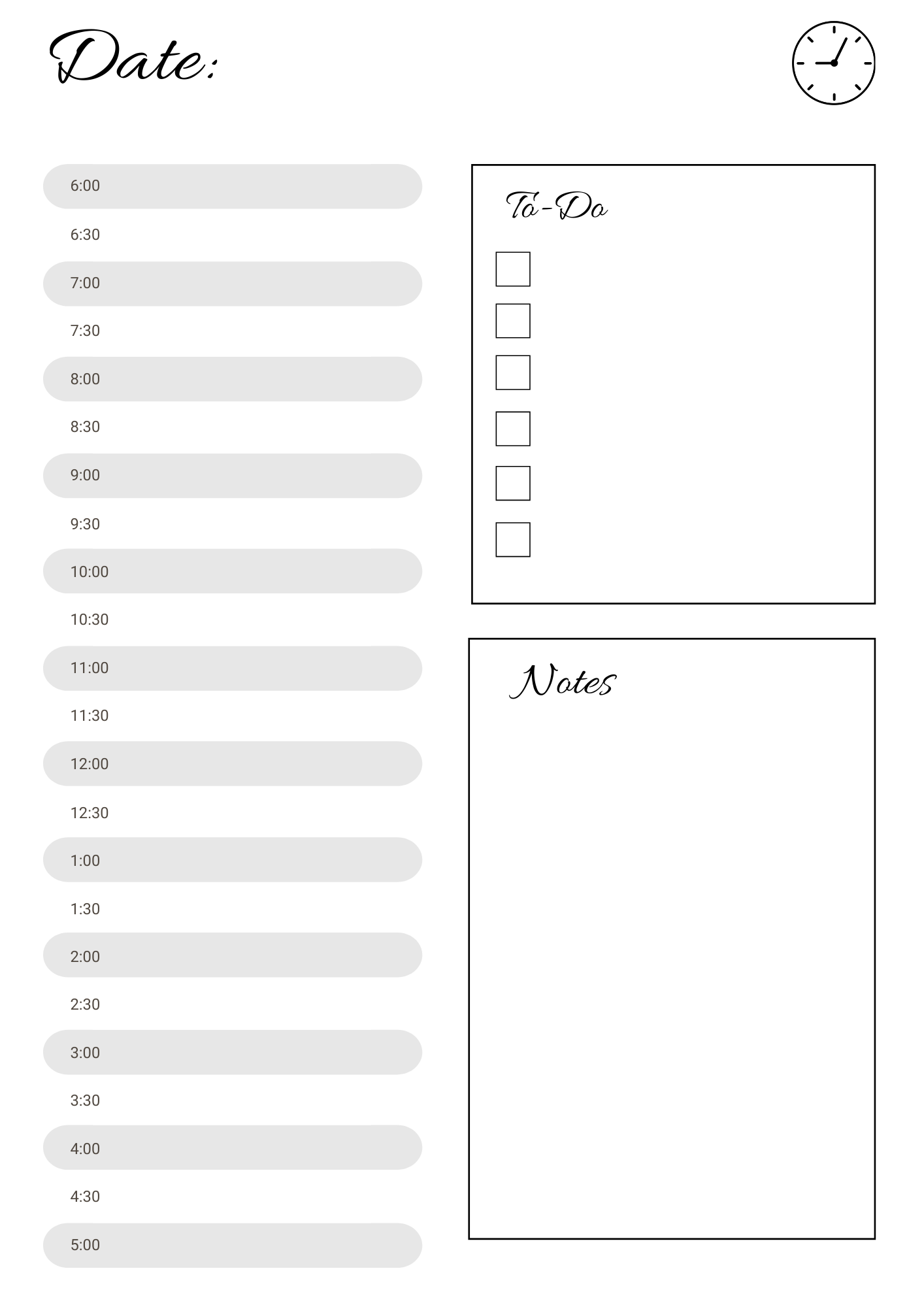 Agenda perpétuel à imprimer   Planner à imprimer   Kit