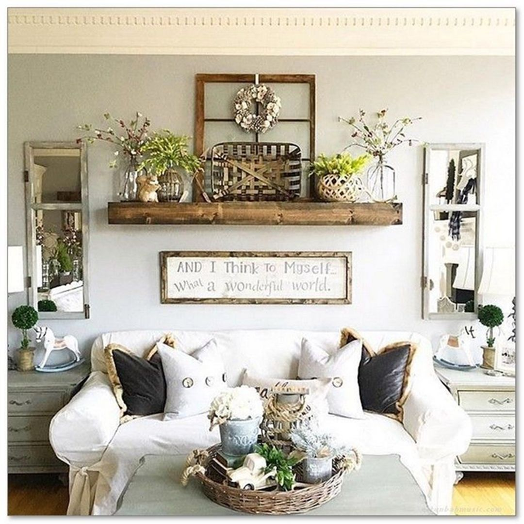36 Wonderful Home Interior With On A Budget Farmhouse Wall ...