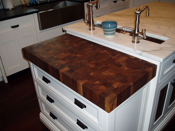 How To Add On To Countertop Butcher Block Granite Granite And Butcher Block Simple Kitchen Design Walnut Butcher Block Countertops Butcher Block Countertops