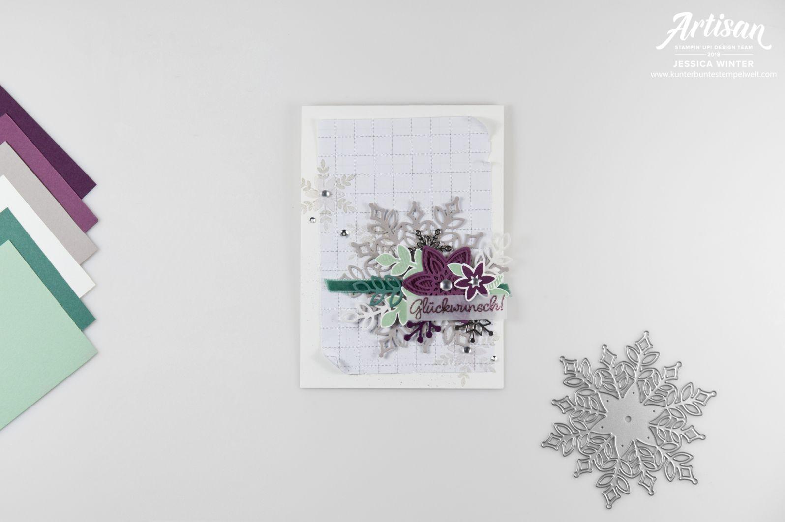 Winterliche Geburtstagskarte gestaltet mit Stampin´ Up! Produkten