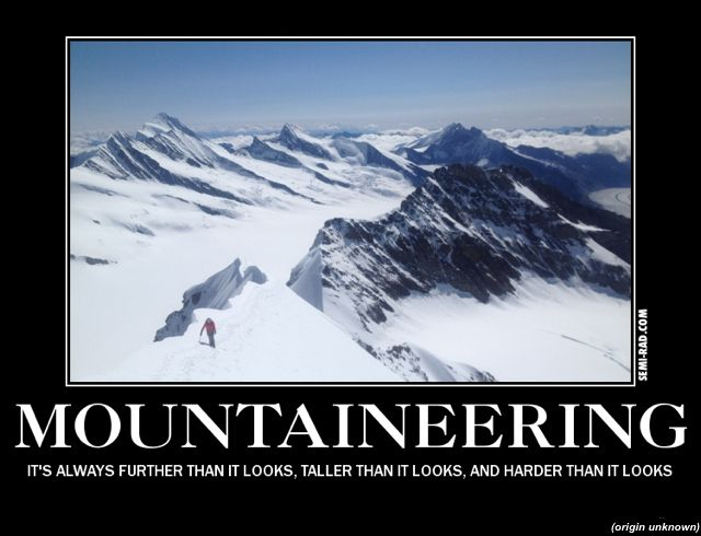 MOUNTAINEERING CLIMBING MOTIVATIONAL  POSTER
