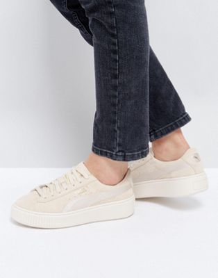 Platform Pinterest Beige Shoes Satin Suede Sneakers Puma In OqAECw