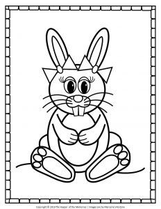 free printable easter bunny coloring pages in 2020  easter bunny colouring bunny coloring