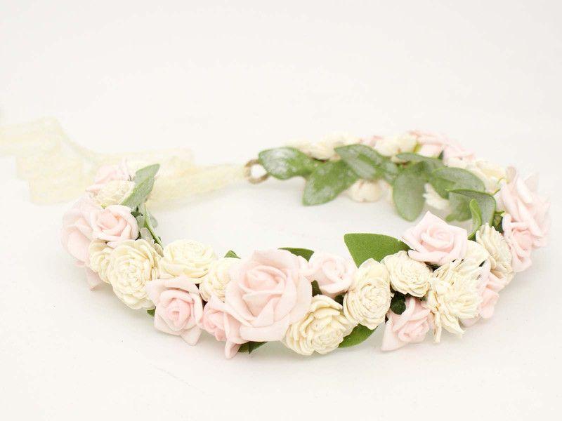 Kwiatowy Wianek Na Glowe Romantic Look Lolawhite Kwiaty Do Wlosow Accessories Band Fashion
