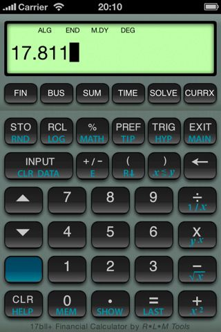 Bii Financial Calculator Iphone And Ipad App By RLM Software